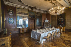 Столовая в замке Friedenstein Стоковое Изображение RF