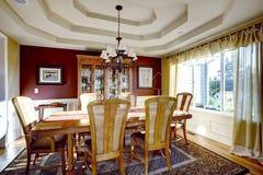 Столовая с стенами цвета контраста Стоковые Фотографии RF