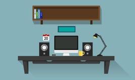 Стол персонального компьютера Стоковая Фотография RF