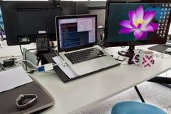 Стол программиста Стоковые Изображения