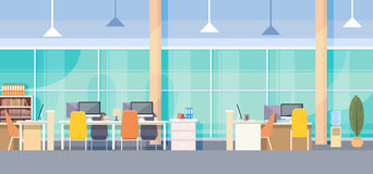 Стол рабочего места современного офиса внутренний бесплатная иллюстрация