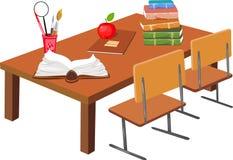 Стол школы иллюстрация штока