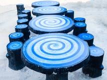 Столы для пикника Стоковые Изображения