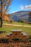 Стол для пикника с взглядом Стоковое Изображение