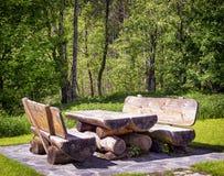 Стол для пикника Стоковые Изображения RF