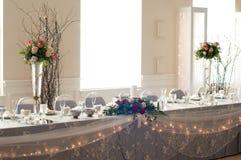 Стол для почетных гостей приема Стоковое фото RF