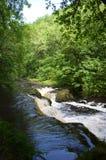 Страна водопада в Brecon светит национальный парк, Великобританию Стоковая Фотография RF