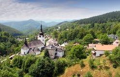 Страна в Словакии - деревне Spania Dolina Стоковая Фотография