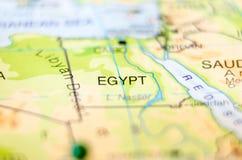 Страна Египта на карте стоковое изображение