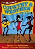 Страна и западный плакат иллюстрация штока