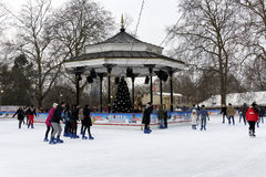 Страна чудес зимы в Гайд-парке, Лондоне Стоковое Фото
