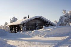 страна чудес зимы Лапландии Стоковое Фото