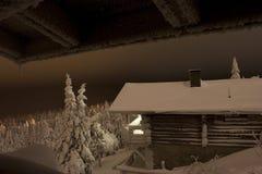 страна чудес зимы Лапландии Стоковое фото RF