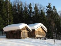 страна чудес зимы Норвегии Стоковое Изображение