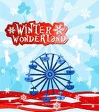 страна чудес зимы иллюстрация штока