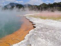 Страна чудес Новая Зеландия Wai-O-Tapu термальная Стоковое фото RF