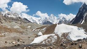 Страна чудес горы и ледника Стоковое Фото