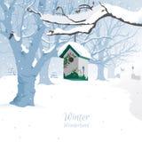 Страна чудес зимы - предпосылка Стоковая Фотография