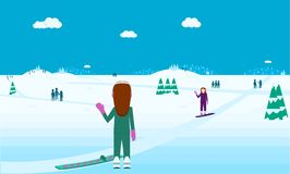 Страна чудес спорт зимы Стоковые Изображения