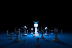 Страна шахмат Метафора шахмат руководителя иллюстрация 3d представляет Стоковая Фотография RF
