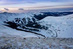 Страна лыжи Колорадо стоковое фото rf