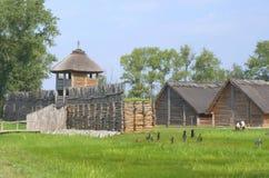 Страна Biskupin, Польша стоковая фотография rf