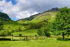 страна fields горный склон Стоковое Фото