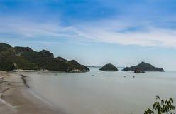 Страна Pu Prachuap Khiri Khan Таиланда челки Стоковое Фото