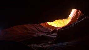 страница верхние США каньона Аризоны антилопы Стоковые Фото