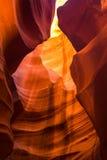 страница верхние США каньона Аризоны антилопы Стоковые Фотографии RF