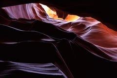 страница верхние США каньона Аризоны антилопы Стоковые Изображения RF
