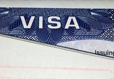 Страница визы Соединенных Штатов Америки стоковые фотографии rf
