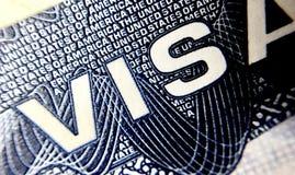 Страница визы Соединенных Штатов Америки стоковое изображение