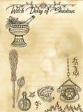 Страница 3 дневника ведьмы 31 иллюстрация вектора