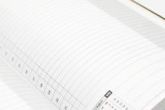 страница дневника крупного плана Стоковое фото RF