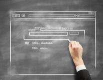 Страница интернета структуры Стоковое Изображение