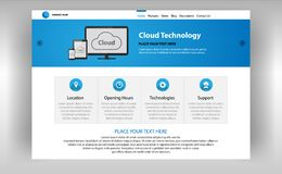Страница интернета технологий облака бесплатная иллюстрация