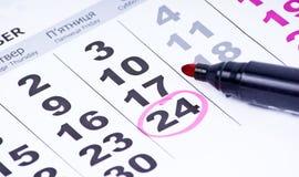 страница календара близкая вверх Стоковые Изображения