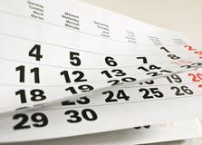 страница календара Стоковые Фотографии RF