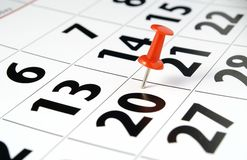 страница календара Стоковая Фотография RF