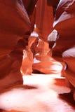 страница каньона антилопы Стоковое Изображение