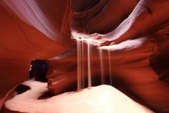 страница каньона антилопы Стоковое Фото