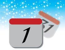 Страница календаря на голубой предпосылке Стоковое Изображение RF