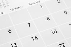 Страница календаря Стоковое фото RF
