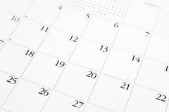 Страница календаря Стоковая Фотография RF