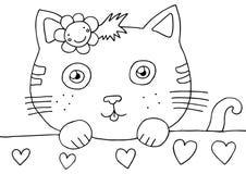 страница киски расцветки иллюстрация штока