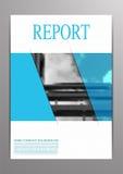 Страница крышки A4 брошюры дела в стиле rectanhle с голубым col Стоковые Изображения RF