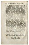Страница немецкой античной газеты Стоковые Фото