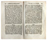 Страница немецкой античной газеты Стоковое Фото