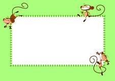 страница обезьян иллюстрация вектора